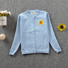 Kids Sweater 100% Cotton Girls Cardigans Solid Colors for Girl pull enfant 2016 Autumn Winter Boys Cardigan Coat 18M-5T