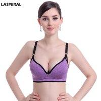 LASPERAL Brands Women Push Up Bra Shakeproof Fitness Bra Wireless Padded Brassiere Bra Girl Crop Top