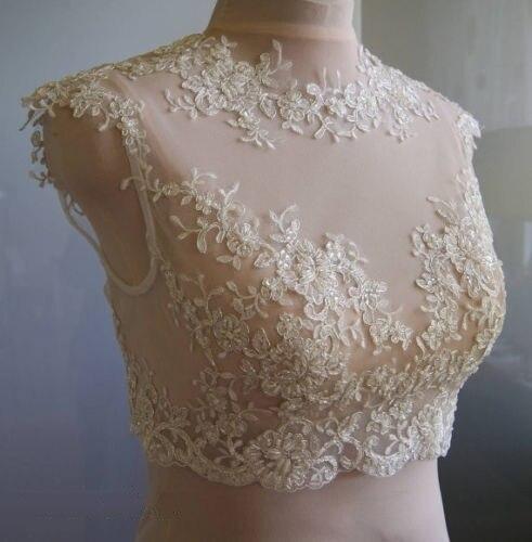 Vintagne 2015 branco / marfim Tulle com apliques Cap luva nupcial do casamento Bolero Jacket chegada nova capa casamento ASWP18