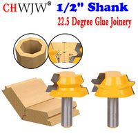 Lock Miter Router 22 5 Degree Glue Joinery Router Bit Set 1 2 Shank Chwjw 15220