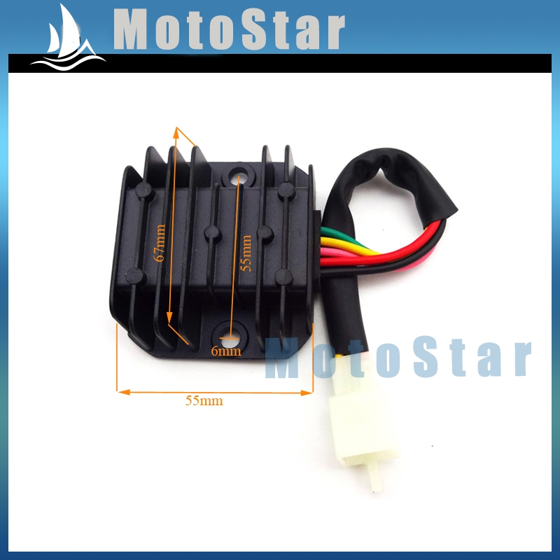 US $6 68 30% OFF 5 Wire Pins Voltage Regulator Rectifier For GY6 50cc 70cc  90cc 110cc 125cc 150cc Engine ATV Quad Scooter Moped Go Kart-in Grips from