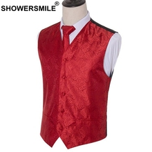 SHOWERSMILE 5xl Vests Men Plus Size Wedding Tie Suit Waistcoats Male Rayon Red Loose Sleeveless Jacket Mens Spring Clothing Gray