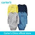 Bodysuits de carter 4 pcs do bebê dos miúdos das crianças Originais 126G338, vendido por carter oficial da China loja