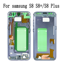 Фотография For samsung galaxy S8 G950 S8 plus S8+ G955 new Middle Frame Chassis Mid Housing Bezel Assembly Cover+ Side Button Free shipping