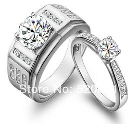 Wholesale Luxury Quality his and her promise ring sets ...