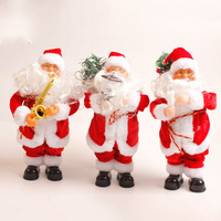 Amazing Kids Gift Christmas electric Santa Claus toys with music Fashion Home Christmas Decoration E2S