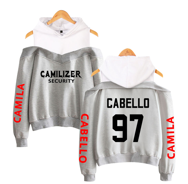 CAMILA CABELLO THEMED OFF SHOULDER HOODIE (13 VARIAN)