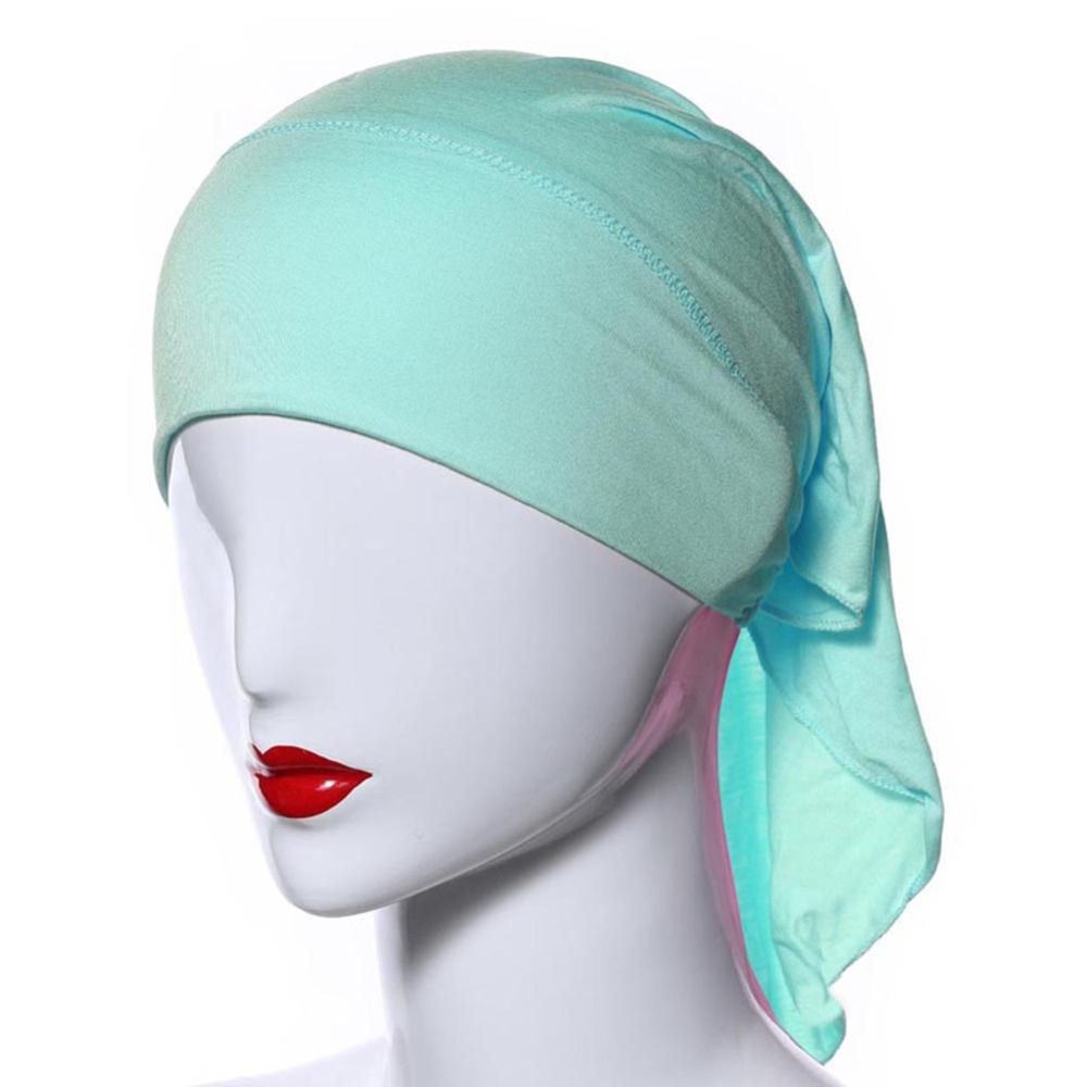 Muslim Women Soft Comfort Inner Hijab Caps Islamic Under scarf Hats 20 Colors H7