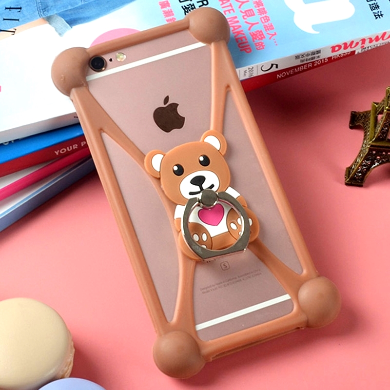 Fashion For Mlais M7 Plus 3D Ring Style Stand Holder Soft TPU Rubber Cell Phone Case, Silicone Phone Cover Capa