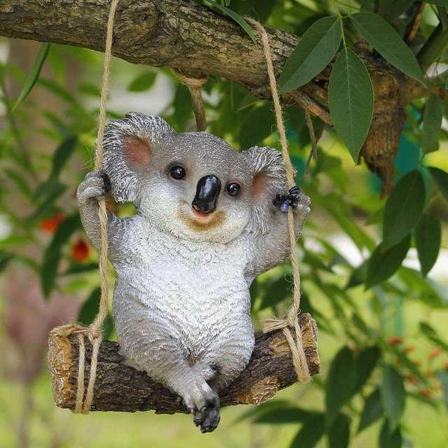 29 cm Koala oscilacin animales Adornos para jardn estatua