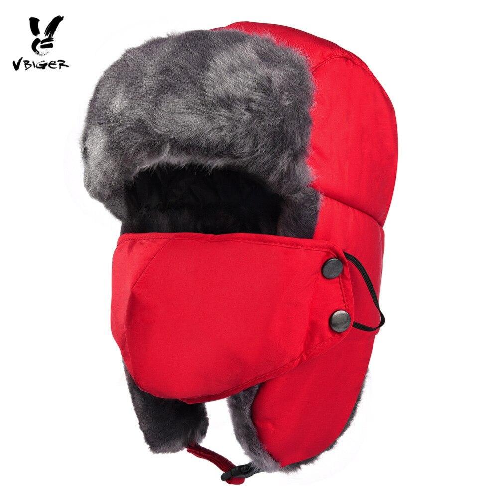 VBIGER Women Men Balaclava Thicken Warm Hat Skullies Beanies Waterproof Winter Cap Hat Skiing Mask Ear Flap Hat Flocking Lining