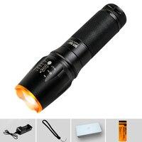 QINLE LED Rechargeable Torch Zoomable Aluminum Flashlight Waterproof Adjustable Lantern 18650 AAACamping Lanterna Night lights