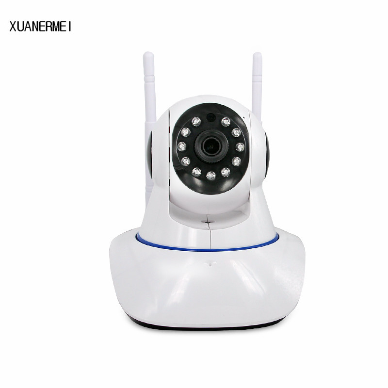 XUANERMIE baby monitor 720P HD Wireless IP Camera Wifi Pan Tilt Infrared Led P2P Remote Monitoring Home Security System IPcam bmsoar wifi ip camera ir night vision 720p hd p2p network wireless pan tilt home security baby monitor yoosee