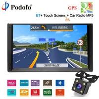 Podofo GPS Navigation Android 2 Din 7 HD Car Radio Touch Screen Autoradio Multimedia Player Bluetooth