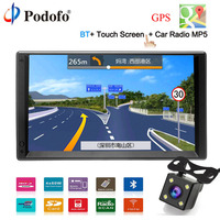 Podofo GPS Navigation Android 2 Din 7HD Car Radio Touch Screen autoradio Multimedia Player Bluetooth FM MP5 Audio Auto Stereo