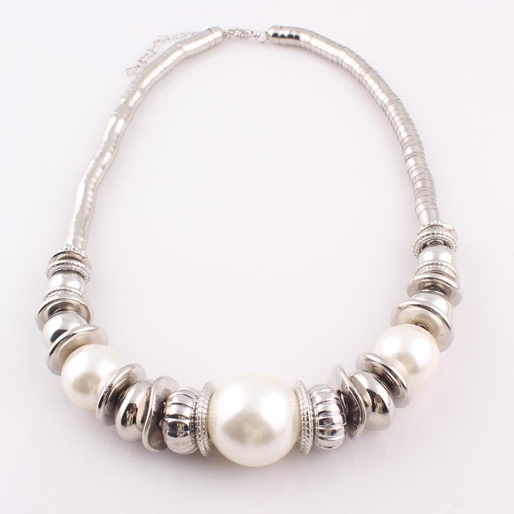2017 mujeres de la moda simulada perla serpiente collares pulseras - Bisutería - foto 5