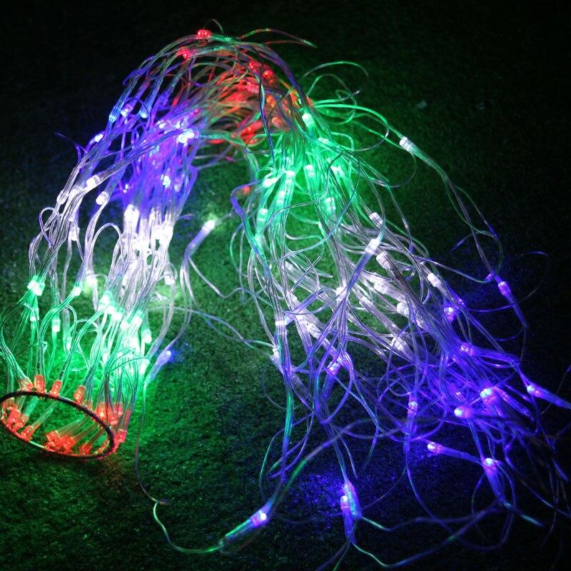 1.5m Luminaria LED Net Luz intermitente Cortina de luz de fadas casamento Interior Exterior feriado do Natal Decoracao da arvore цены онлайн