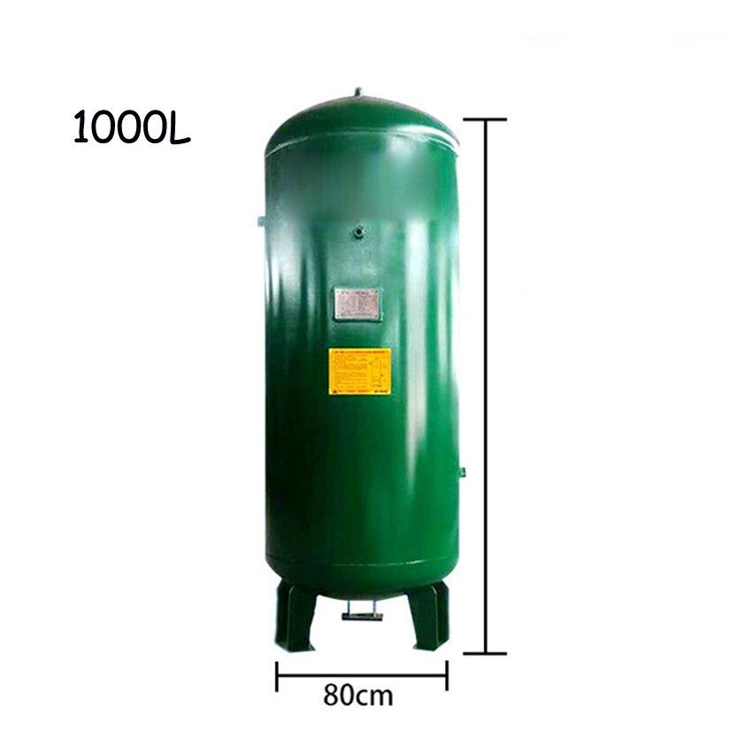 Air Compressor Gas Storage Tank High-quality Vertical Vacuum Tank Carbon Steel Gas Cylinder Air Tank 1000L 8KG 0.8Mpa Rp3/4 R1/2