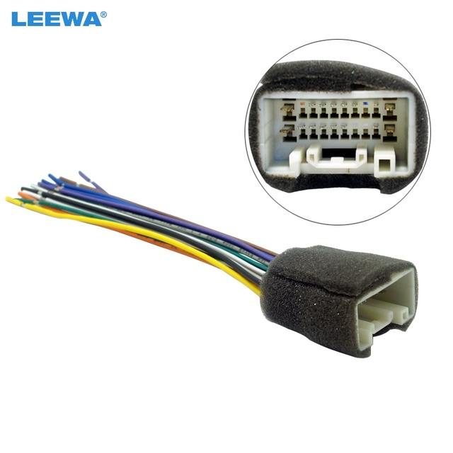 LEEWA Car Radio Stereo Wiring Harness Adapter For Mitsubishi Lance