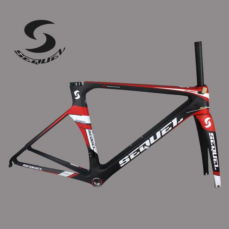 2017 Sequel carbon bike frame T800 UD  weave glossy red/blue yellow carbon road frame cadre carbone route accept OEM painting