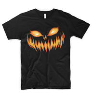 Pumpkin Face T Shirt Turnip Trick Or Treat Halloween Scary Spooky Jack O Lantern