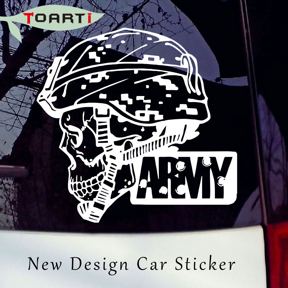 Sticker design for car online - Army Military Skull Vinyl Car Sticker Soldier Design Car Styling Decal For Window Laptop Door Car