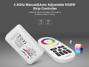 Milight FUT028 DC12 24V 2 4G MI Kontroler światła bezprzewodowy panel dotykowy kolor RF dioda led RGBW kontroler dla dioda led RGBW taśmy tanie i dobre opinie Kontroler rgb RF Wireless 12 v teopek China (Mainland)