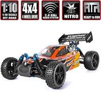 HSP гоночный автомобиль 1:10 4wd Rc игрушки двухскоростной Внедорожник Багги гоночный автомобиль Nitro Газовая мощность 4x4 высокая скорость хобби Д