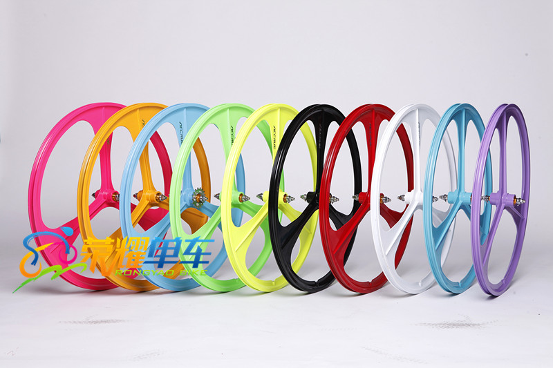 fixie Bicycle Brand NEW TRI Spoke / Mag Alloy 700c Fixie Rims / Fixed Gear Wheels fixie bike 3 spoke mag wheel velo mag 200 в киеве