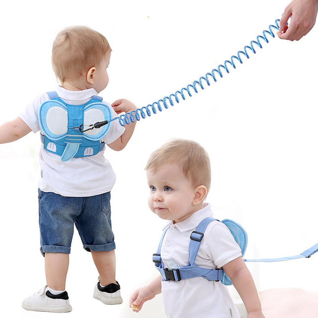 1-8Y Kids Baby Anti Lost Belt Strap Rope Wrist Link Toddler Children 8ft Expandable Cartoon Safety Outdoor Walking Harness Leash 3