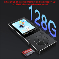 Bluetooth4.0 MP3 Music Player 16GB Built in Speaker with 2.4 Inch TFT Screen Lossless Sound Player, Supports SD Card up to 128GB