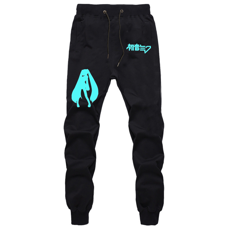 Summer New Sports Pants Cotton Sweat Breathable Anime Hatsune Miku Pants Students Jogger Fitness Long Trousers