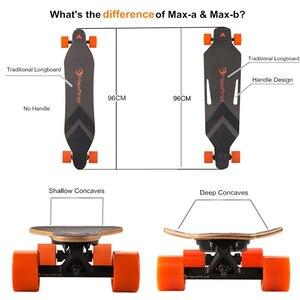 Image 3 - Longboard Elettrico Skateboard Singolo Motore Hoverboard 4 Ruote di Skateboard Con Telecomando 600 W Kit Motore Del Mozzo