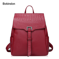 New 2017 Women Backpack Popular College Wind Woman Bags Fashion Cow Split Leather Designer Backpacks Lady