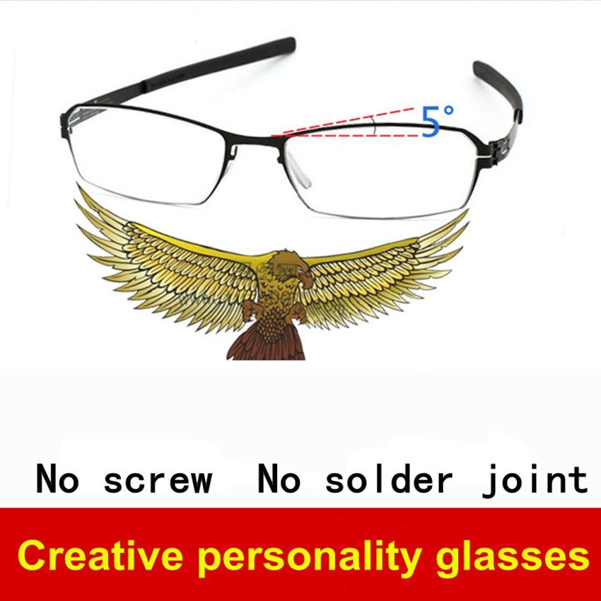 ᐅUltra-ligero sin tornillos gafas marco hombres ultra-Delgado ...