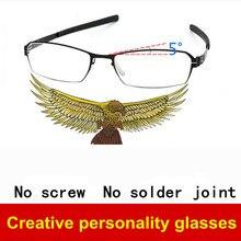 Ultra-light Schraubenlose brillengestell männer ultradünne kreative brillen frames männer marke persönlichkeit myopie rahmen männlichen brillen