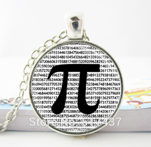 Hot glass dome jewelry PI Necklace Math Jewelry Teachers, Science, Mathematics Black and White Art Pendant jewelry