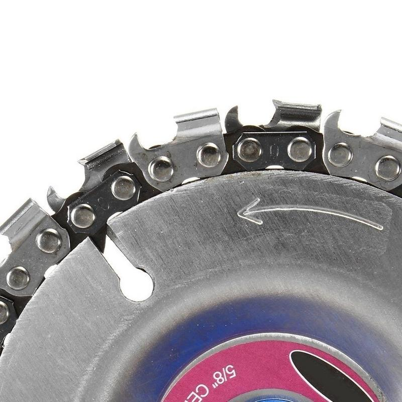 1PCS Circular Saw Blades Woodworking Chain Angle Chain Grinding Disc Cutting Blade Wood Carving Disc For Angle Grinder Dropship in Saw Blades from Tools