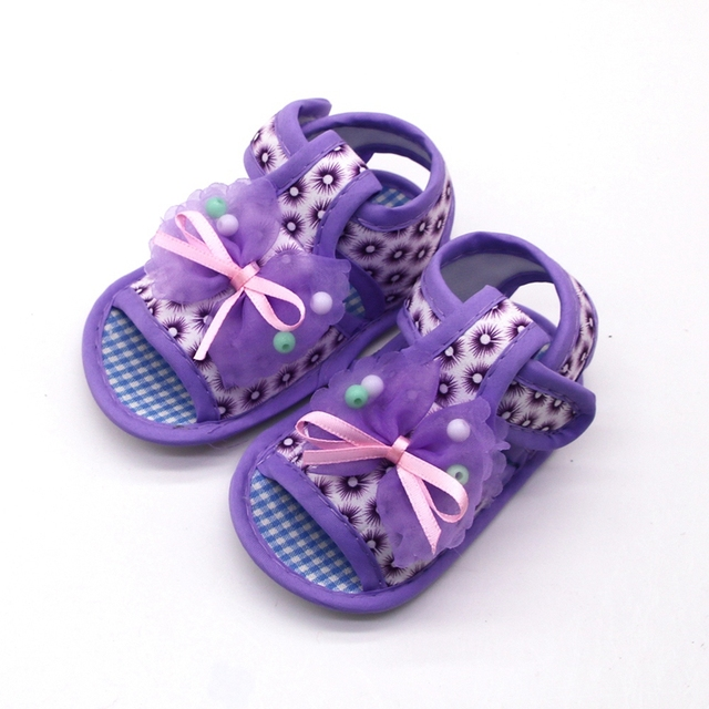2019 Cotton Baby Girls Shoes Infant First Walkers Toddler Girls Kid Bowknot Soft Anti-Slip Crib Shoes 5