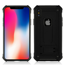 Anti Skid Shock Absorption TPU+PC Car Holder Phone Case For iPhone X 5.8 Proof