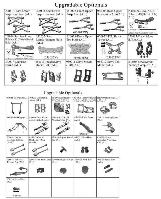 94050 upgrades-36 items