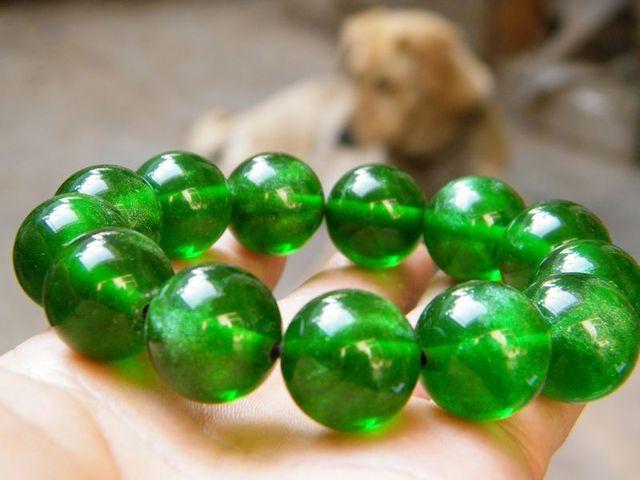 2013 new hot Bi the green amber pine plastic beads bracelet 18MM + free shipping