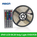 Waterproof IP65 LED RGB Strip Light SMD3528 Fiexble Lights 300 LEDs 16.4ft 5M Tape Lamps +12V Power Supply +44 Keys Controller