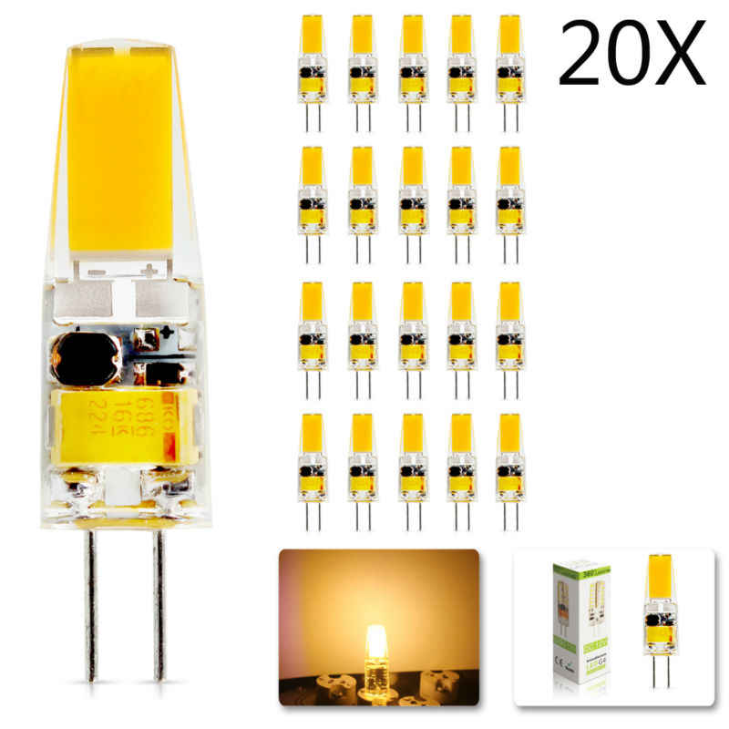 20Pcs/lot 2018 new G4 AC DC 12V Led bulb Lamp Dimmable SMD 6W  Replace halogen lamp light 360 Beam Angle luz lampada led