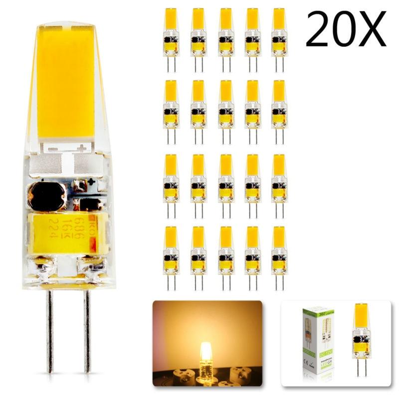 Новинка 2018, светодиодная лампа G4 AC/DC 12 В (220 В), 20 шт./лот, приглушаемая SMD 3 Вт, сменная галогенная лампа, лампа с углом свечения 360, светодиодная ...