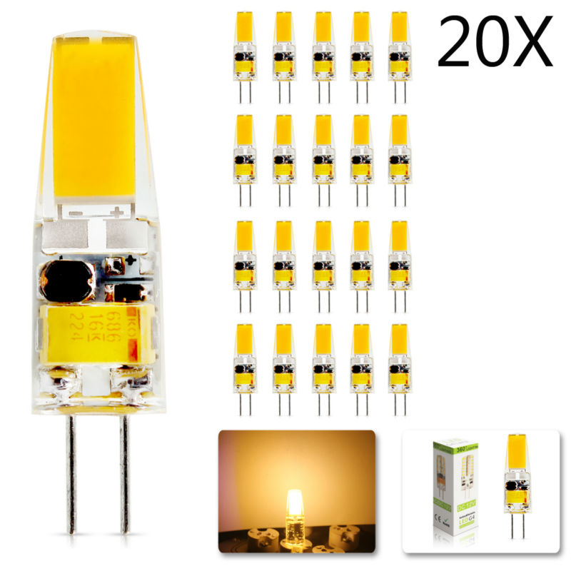 20Pcs/lot 2018 New G4 AC DC 12V(220V) Led Bulb Lamp Dimmable SMD 6W  Replace Halogen Lamp Light 360 Beam Angle Luz Lampada Led