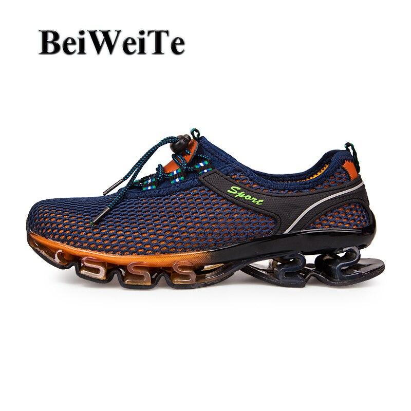 BeiWeiTe Для мужчин s Весна блейд кроссовки Для мужчин плюс Размеры спортивная обувь противоскольжения амортизаторов дышащая прогулочная обув...
