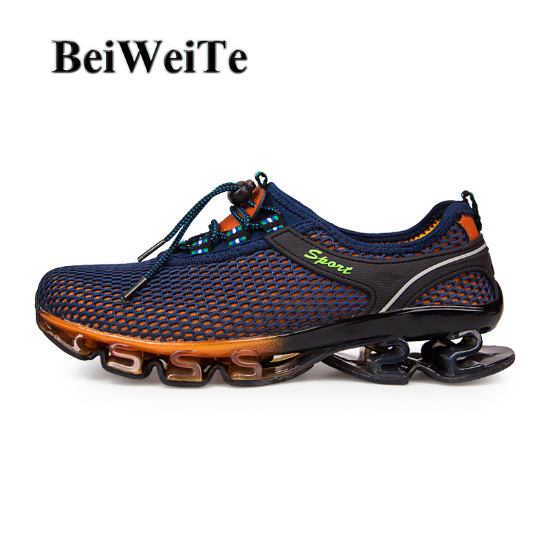 Heren loopschoenen Heren Big Size Ademend Non-slip Jogging Sports Blade Sneakers voor Heren Spring Tourism Outdoor Wandelschoenen