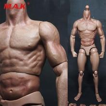 лучшая цена 1/6 scale male man body figure military chest muscular body similar to TTM19 for wolverine 12