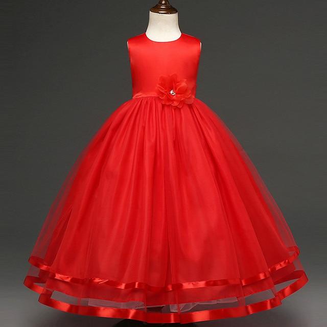 Обувь для девочек нарядные платья для свадьбы От 10 до 11 лет Формальные Цветочные Выпускной платья детей горячие дети Выпускные платья летнее платье принцессы для девочек